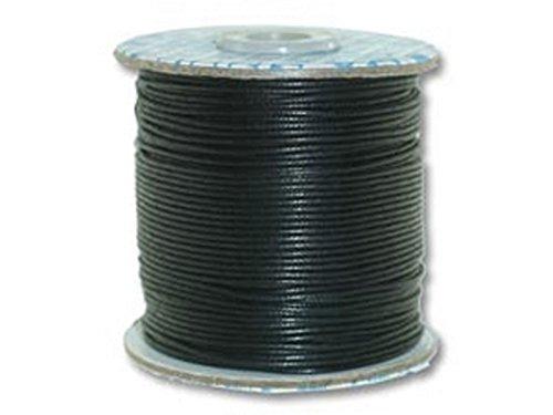 Creative-Beads Cordón de algodón encerado, 1,0 mm para pulseras, cadenas, etc., rollo de 90 m, color negro, para manualidades, decoración,