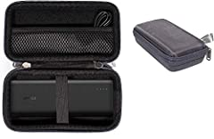 Alltravel customized protective case for EasyAcc 20000mAh, 26000mAh, Also for Anker 20100mAh, 20000mAh QC, RAVPower 26800mAh, 22000mAh, 2000mAh; EC Technology 22400mAh, and Poweradd Pilot X7 20000mAh Also compatible with PURVOBIA Ultra Thin Slim Blue...