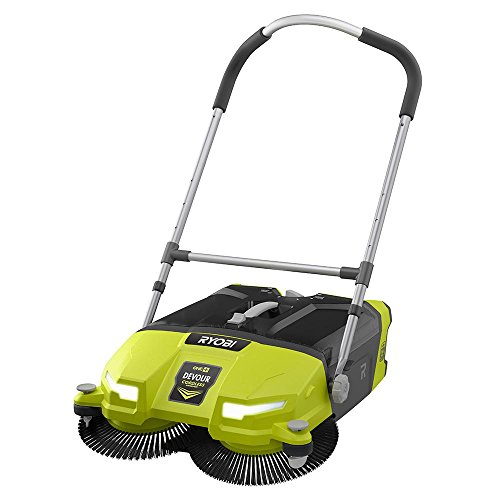 Sale!! Ryobi ONE+ DEVOUR 18-Volt Cordless Debris Sweeper, Transparent 4.5 Gal Tub Capacity with LED ...