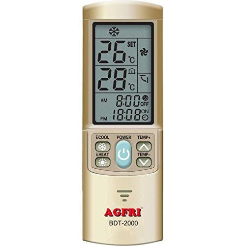 Agfri BDT-2000 Mando a Distancia Universal para Aire Acondicionado con 2000 Códigos