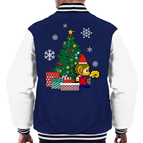 Cloud City 7 Alex Kidd Around The Christmas Tree Men's Varsity Jacket