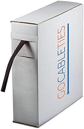 Gocableties - Mini carrete de tubo termorretráctil de alta calidad, 4.8 mm x 10 m, 2: 1, color negro, negro