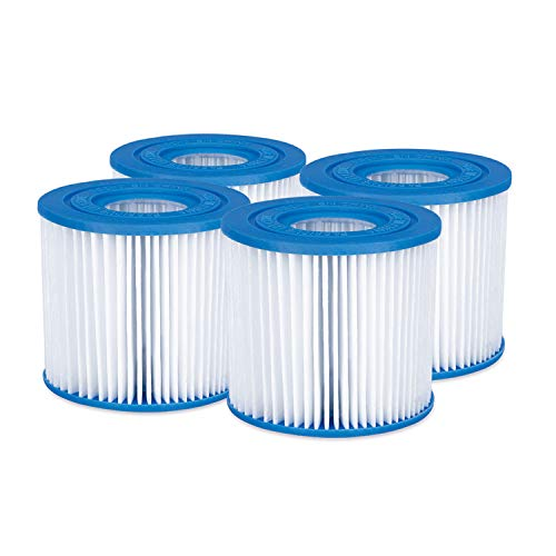 Replacement Type D Swimming Pool and Hot Tub Spa Cartridge with Heavy Duty Ultimate Filtration Paper, 4 Pack - Summer Waves P57000104