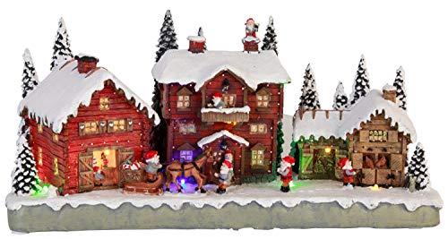 LED-Leuchtdorf Santa Claus Village