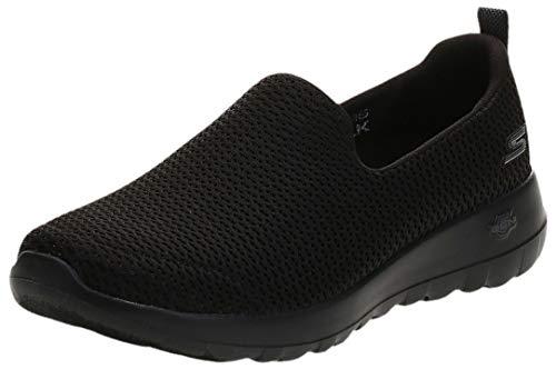 Skechers Go Walk Joy, Zapatillas sin Cordones Mujer, Negro (BBK Black Textile/Trim), 39 EU