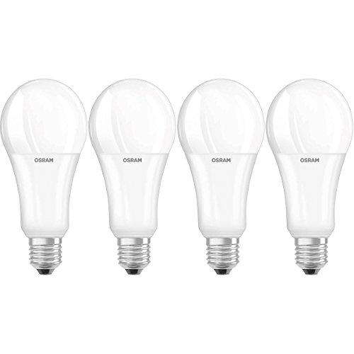 Osram LED SuperStar Classic A Lampe, in Kolbenform mit E27-Sockel, dimmbar, Ersetzt 21 W =  150 Watt, Matt, Warmwei? - 2700 Kelvin, 4er-Pack