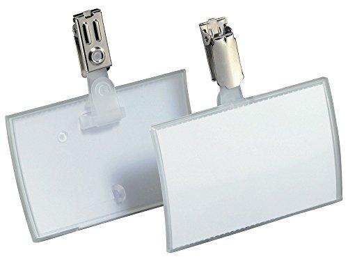 Durable 821619 Namensschild Click Fold mit Clip (54 x 90 mm) Packung à 25 Stück
