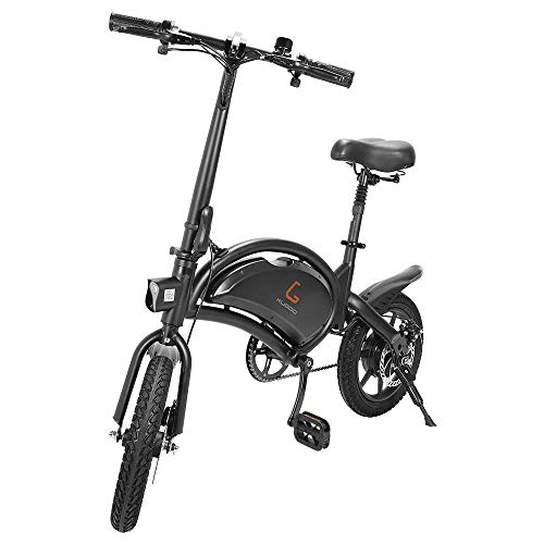 Electric Bikes for Adults, Foldable Electric Bicycle Commute E bike 40-45km Range 400W Motor, 14'' Inflatable Tire 7.5AH 48V Lithium Battery Max 45kmh E-bike City Bicycle with Pedals, KUGOO B2