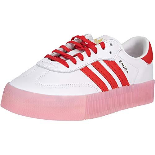 adidas Sambarose - Zapatillas deportivas para mujer, color Blanco, talla 41 1/3 EU