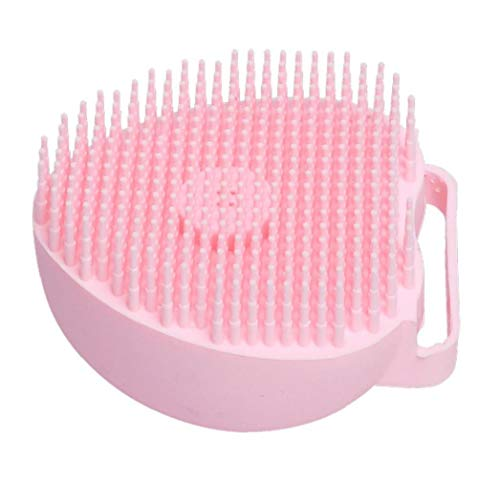 Pet Dog Bath Brush Comb Silicone Spa Shampoo Massage Brush Shower Hair Removal Comb for Dogs Cats Cleaning Grooming Tool Yellow Pet Accessories