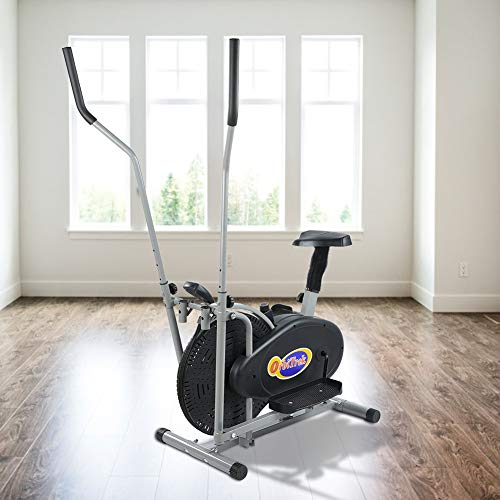 POCREATION Cross Exercise Bike, Elliptical Trainer Cardio Workout Machine with Seat and LCD Monitor...