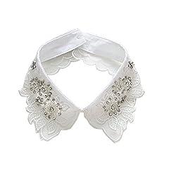 White-10 European Faux False Collar Lapel