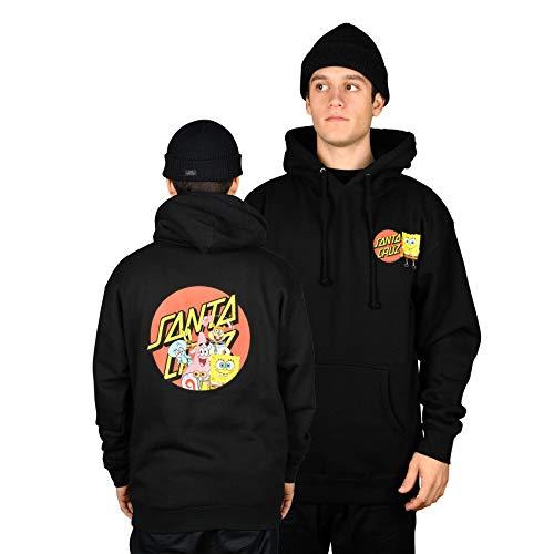 Santa Cruz Spongebob Group Hood Pullover Hoody Medium Black