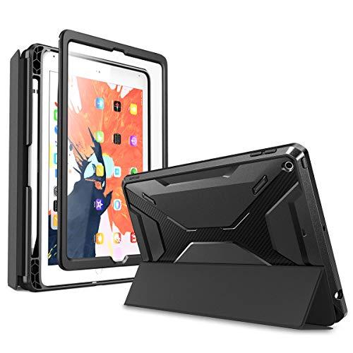 SupCase Hülle für iPad 9.7 Schutzhülle 2018/2017 Case 360 Grad Cover Abnehmbar Slim Trifold Schale mit Eingebaut Displayschutz [Unicorn Beetle] mit Auto Schlaf/Wach Kompatibel mit Apple Pen (Schwarz)