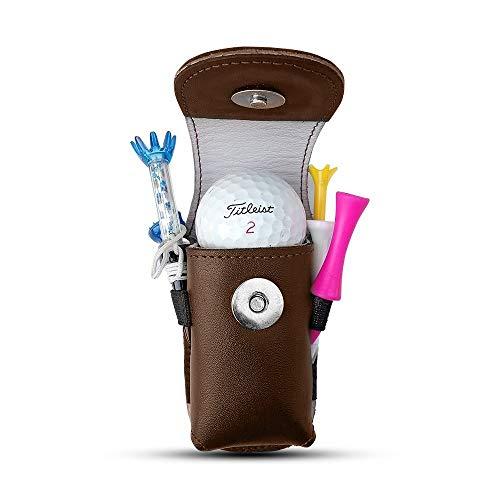 Golfoy Golf Balls & Tee Holder Pouch 4.0 (Brown)