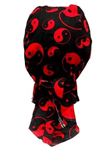 armardi b Bandana casquette Yin Yang Rouge Noir