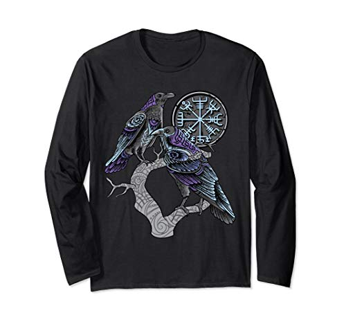 Odin's ravens Shirt viking celtic Huginn Muninn Long Sleeve T-Shirt