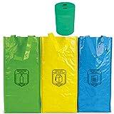 Natuiahan 3 Bolsas de Reciclaje Duraderas Robustas, Prácticas y Fáciles de...