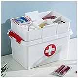 YXYLD Erste Hilfe Box,Medizinbox,Kunststoff-Kit Medical Box Fette Griffe Bevorzugtes Pp-Material Stilvolles Aussehen Seitenschnalle 25 * 15.8 * 16cm -