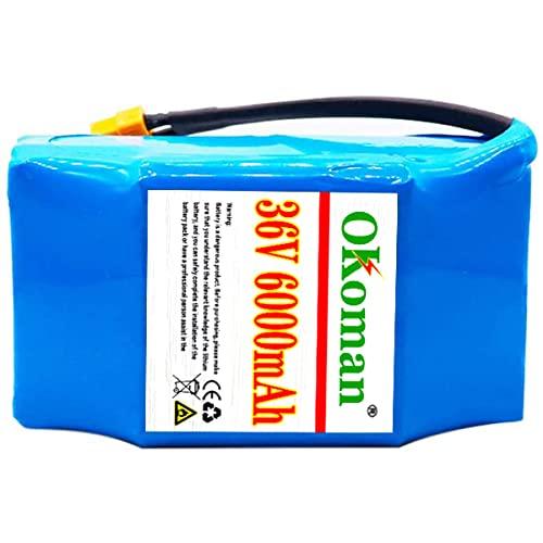 Hoverboard-Batterie 36V 6000mah hoher Stromverbrauch 2-Rad-Elektroroller selbstausgleichender 18650-Lithium-Batteriepack