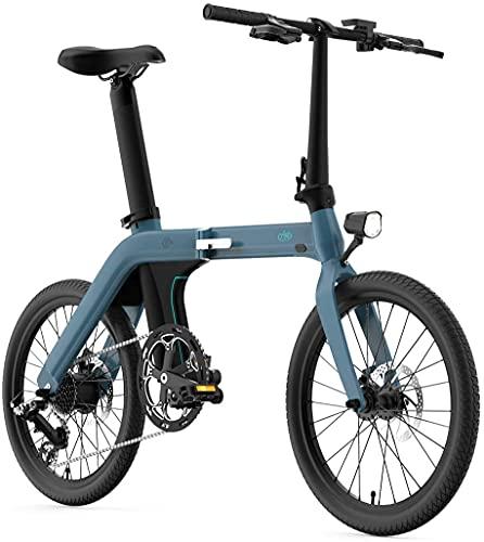 Neumáticos de 20 pulgadas Fiido D11, bicicleta plegable eléctrica para adultos: 36 V, 250 W, 80 – 100 km, 7 velocidades con 3 niveles ajustables en modo ciclomotor.