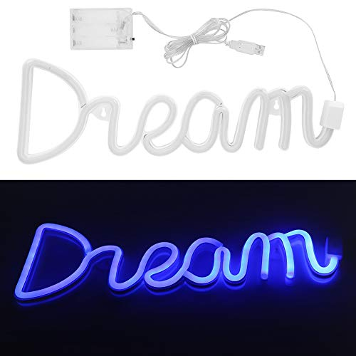 Jacksking USB-LED-Licht, LED-Neon-Wandschild Doppel-Netzteil-Neonschilder, LED-Neonlicht, für Kinderzimmer für Partys