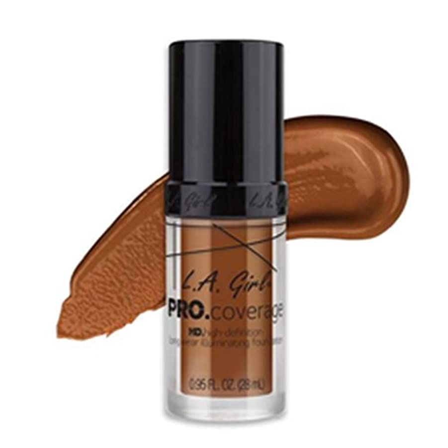 マーク軽称賛(6 Pack) L.A. Girl Pro Coverage Illuminating Foundation - Coffee (並行輸入品)