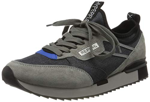 Replay Herren Arthur - Springwood Sneaker, Blau (Navy 40), 42 EU