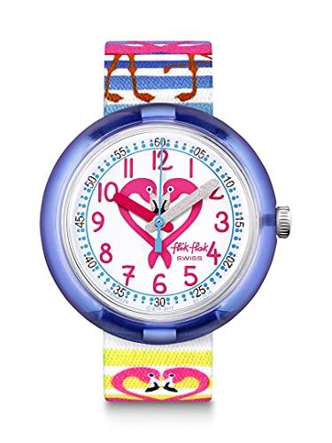 FlikFlak Mädchen Analog Quarz Uhr mit Stoff Armband FPNP029