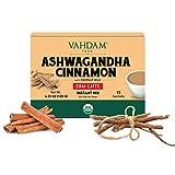 VAHDAM, ORGANIC INSTANT Masala Chai Latte - Ashwagandha Cinnamon (15 Sachets) | INSTANT Masala Chai Tea Powder Mix | Real Ingredients- Ashwagandha & Cinnamon with Vegan Coconut Milk | Improves sleep