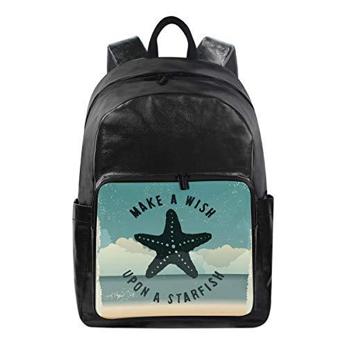 ISAOA Moda impermeable mochila escolar mochila para portátil, 15.6 pulgadas náutico océano...
