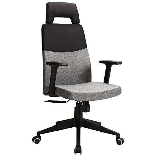 Silla de juego Silla Silla de oficina ergonómica escritorio silla del acoplamiento del ordenador soporte lumbar ajustable moderna simple silla giratoria Inicio Silla de oficina ( Color : Black+Gray )