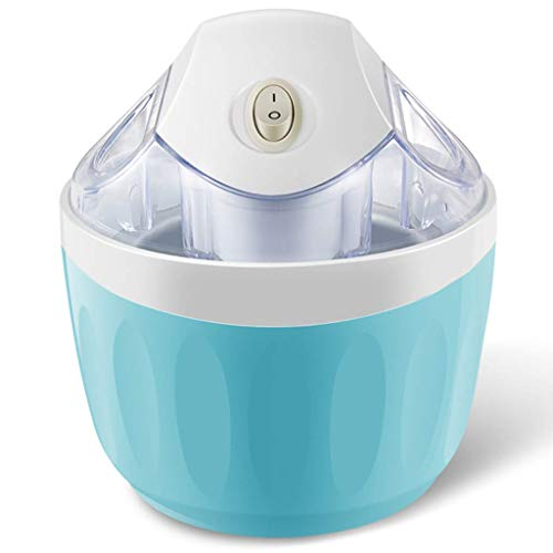 Macchina per gelato, macchina per gelato domestica, compatta e portatile, funzionamento rapido con un solo pulsante, gelato, cono, yogurt gelato, sorbetto, casa, negozio di tè al latte-rosa, blu pen