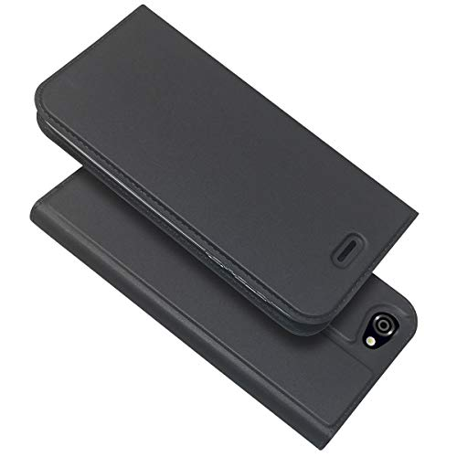 WASAIYE for Sharp Aquos R3 SH-04L / SHV44 Mobile Shell, Leather Card Case Wallet with Handy Stand Feature,Black