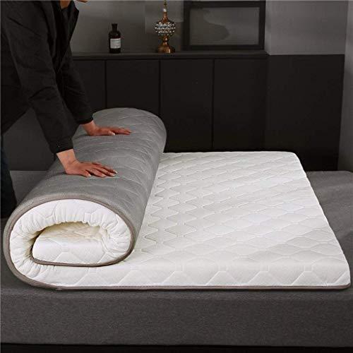 HEWEI Anti-slip opvouwbare slaapmat Futon matras Eenpersoonsbed met dubbele bodem slaapzak Nap Tatami matras (kleur: E grootte: 100 × 200 + 6 cm)