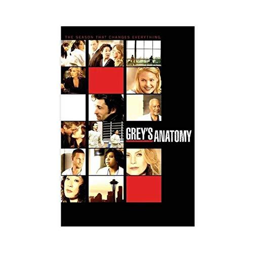 Póster de la temporada 6 de la TV Grey Anatomía de la temporada 6 de la pared del arte de la pared de la impresión de cuadros para la decoración del dormitorio de 50 x 75 cm