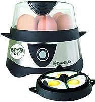 Russell Hobbs Cook@Home Eierkoker, 7 Gekookte / 3 Gepocheerde Eieren, Automatische Timer, Incl. Maatbeker, RVS, 14048-56