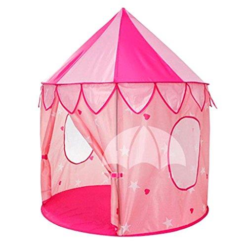 perfeclan Niños Pink Circus Tent Playhouse Niños Interior Exterior Up Play Tienda de Juguetes