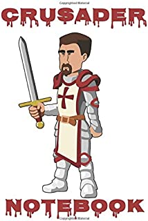 Crusader Notebook  - White - Red - College Ruled (Knight)