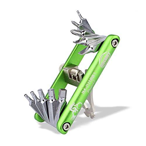 CaLeQi- Kit de Herramientas de Reparación de Bicicletas Multifunción Multiherramienta para Bicicleta de Montaña y Reparación de Ciclos con Llaves de Radios, Destornillador, Hexagonales y más