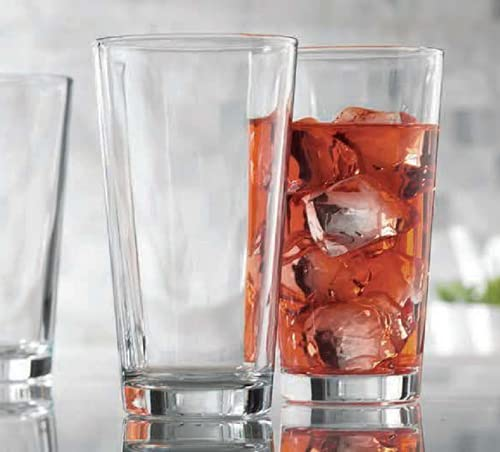 Drinking Glasses - Set Of 10 - Highball Glass Cups 17 Oz. – By Home Essentials & Beyond – Beer Glasses, Water, Juice, Cocktails.
