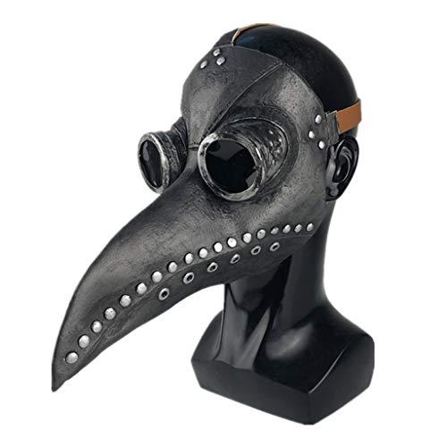 Xinqin - Máscara médica de la pesta, máscara de cuervo peste gótico,...