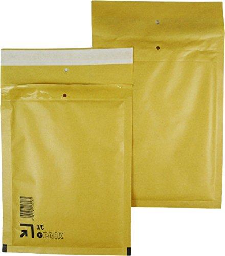 50 braune Luftpolsterumschläge Luftpolstertaschen Versandtaschen 3/C 170x225 mm