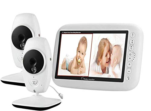 2 Cameras Video Baby Monitor, EMEBAY - Wireless Camera 7.0...