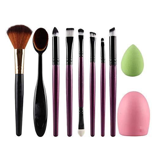 Brosse de maquillage Set 10 PCS/ensemble multifonctionnel brosse Fondation Puff Puff Brush Maquillage Maquillage Outils Cosmétiques Set Brosses