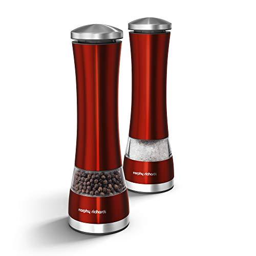 Elektronische Salz- und Pfeffermühle von Morphy rot