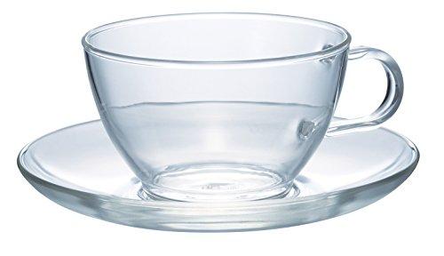 HARIO(ハリオ)耐熱ティーカップ&ソーサー満水容量230ml日本製TCSN-1T