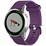 TenCloud Band Compatible with Garmin Vivoactive 4S Washable Silicone Straps Sport Wristbands for vivoactive 4S GPS Smartwatch (Purple)