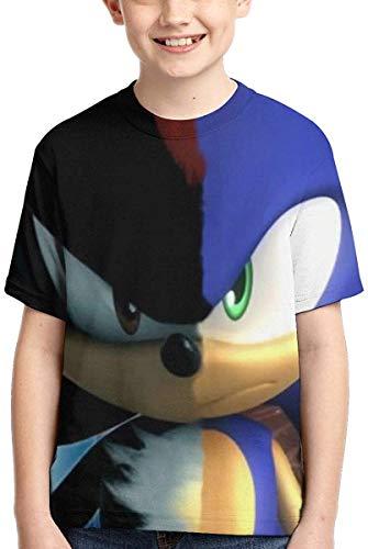 guoweiweiB Camisetas de Manga Corta para niño, So_Nic The Hedgehog Boys T Shirts Kids Short Sleeve 3D Print for Teen Girls T Shirt Youth