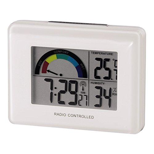 Hama Funk-Wetterstation (mit Funkuhr, Wecker, Thermometer und Hygrometer) weiß